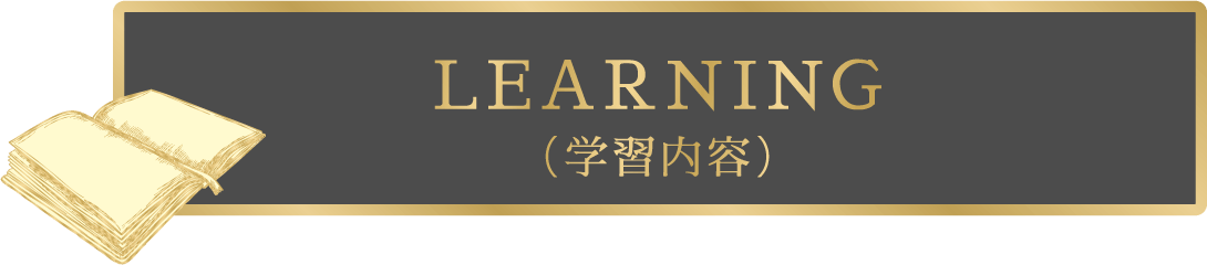 LEARNING(学習内容)
